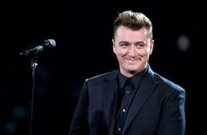 Sam Smith performs onstage.