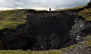 The giant sinkhole in Cowshill, County Durham