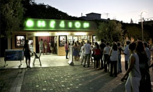 Open-air cinemas in Athens such as Cine Thision are so popular during the summer many indoor screens