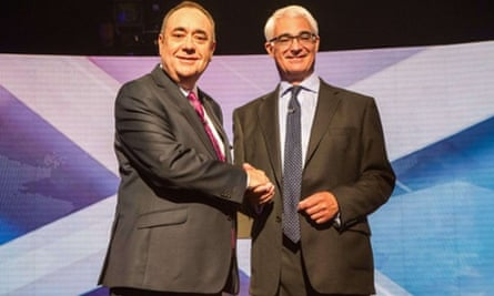 Alex Salmond (left) and Alistair Darling are debating Scottish independence on the BBC
