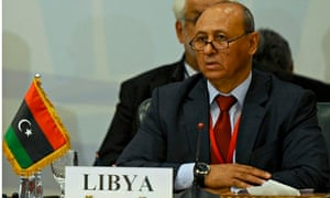 Libyan Foreign Minister Mohammed Abdel Aziz at the fourth Ministerial Meeting for the Neighbouring C