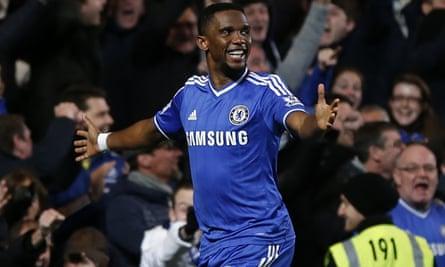 Chelsea's Cameroonian striker Samuel Eto