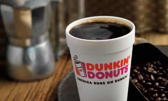 Dunkin Donuts styrofoam cup