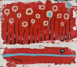 Murrumu Walubara Yidindji's 2010 painting Skeleton Creek