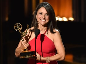 Julia Louis-Dreyfus accepts outstanding lead actress in a comedy series for Veep at the 66th Annual Primetime Emmy Awards.
