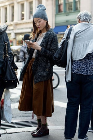 Streetstyle images from The Sartorialist.