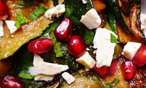 Leftover mint recipe: grilled courgettes, feta and mint salad
