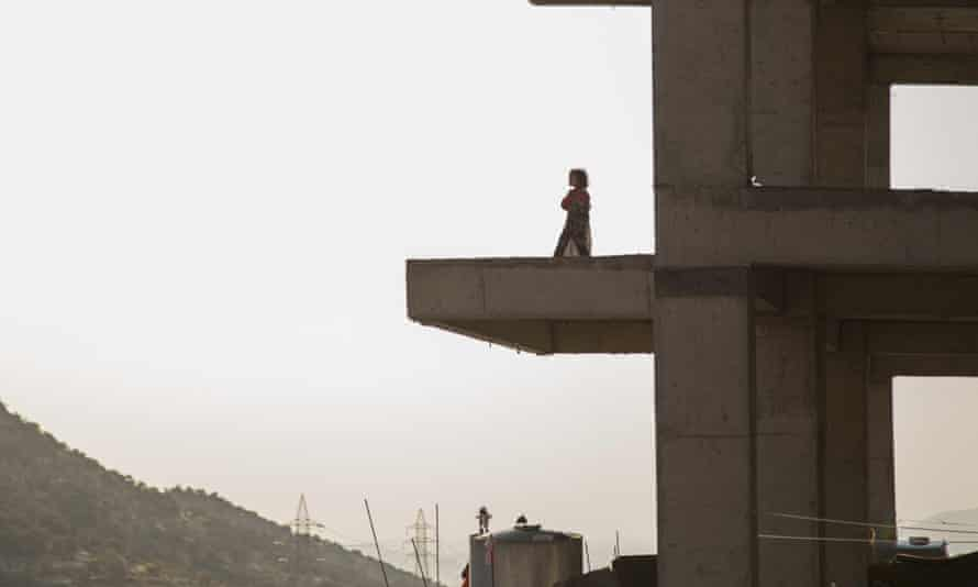 Yazidi refugee families from Sinjar have fled Isis and are living in a building under construction in Dohuk