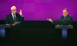 Alistair Darling and Alex Salmond in TV debate on Scottish independence