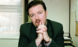 Ricky Gervais as David Brent, office manager, in the television programme THE OFFICE