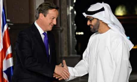 Cameron visits UAE