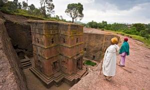 rock church Bet Giyorgis, Lalibela, Ethiopia