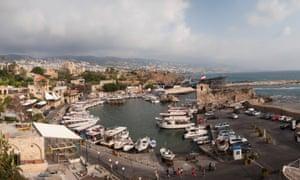 Port of Byblos in Lebanon