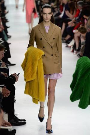 The Christian Dior show at Paris fashion week.
