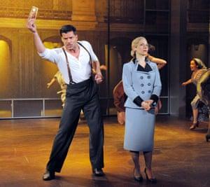 Ricky Martin and Elena Roger in Broadway's revival of Evita