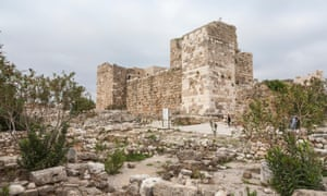 The remains of the Crusader castle, at the archaeological site on the southern outskirts of Byblos.
