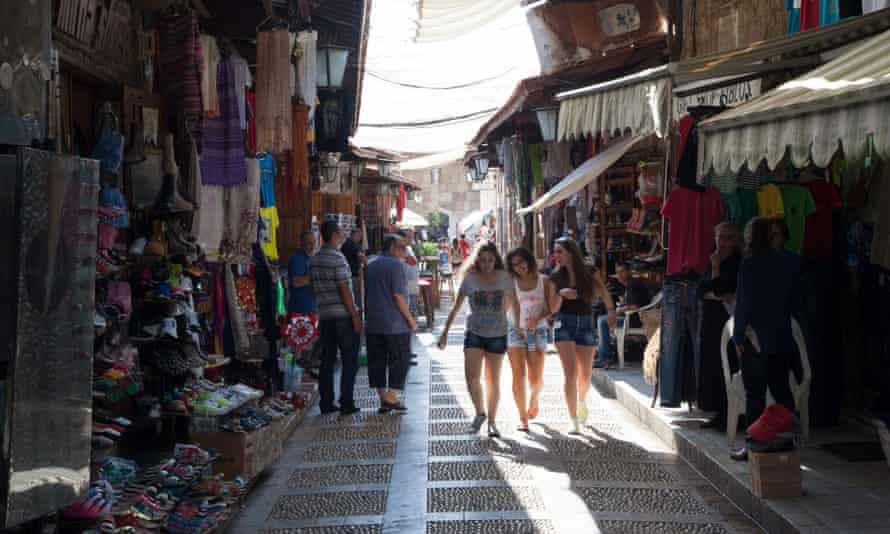 The shopping souk in the heart of Byblos. The city thrives on tourism, but is now looking to diversify.