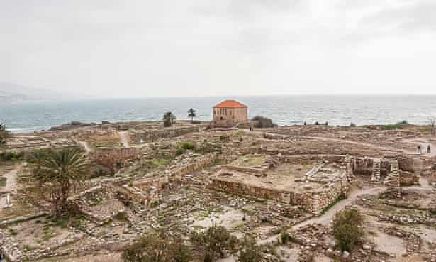 A solitary red-roofed Ottoman-era house marking the edge of the archaelogical district in Byblos. Efforts are now underway to map and safeguard the area.