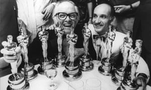 Attenborough and Kingsley with their Oscars for Gandhi