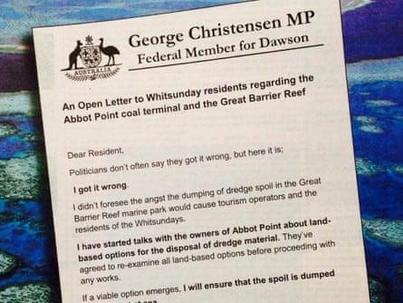George Christensen open letter