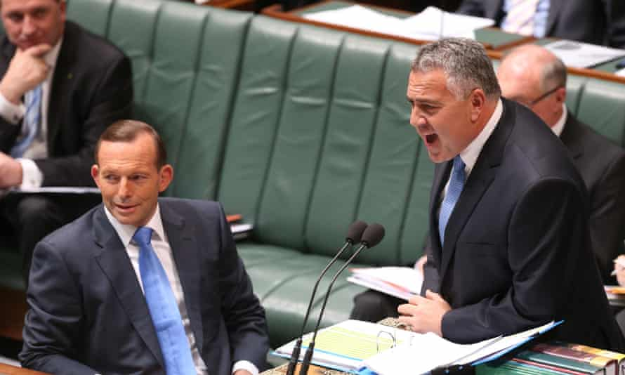 Tony Abbott and Joe Hockey during question time in the House of Representatives on Wednesday.