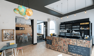 Bar area. Backstay Hostel Ghent
