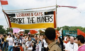 The real thing: LGSM members march in support of the miners