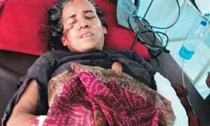Kamla Devi suffered several injuries after she fought off a leopard.