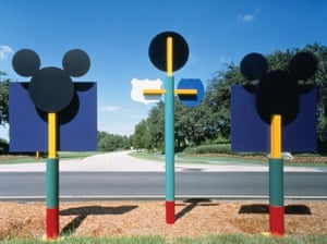 Playful PoMo … Sussman's designs for signage at Disney World and Euro Disney.