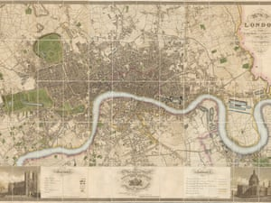 Christopher Greenwood. Map of London, from an actual survey made in 1824.1825 and 1826