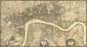 John Rocque.  An Exact Survey of the Citys of London, Westminster, ye Borough of Southwark, and the Country near Ten Miles round