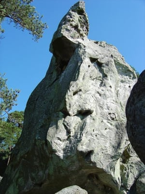 A big boulder at Fontainebleau