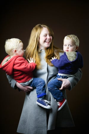 Amy Howard, 34, mum of twins, from Edinburgh. 'The boys have dodged the ginger bullet. I grew up in England but now I feel its part of my identity. My hair has not been as red since I dyed it at school. I was blonde for a long time then black. It's not as red as it was'.
