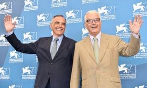 Alberto Barbera and Paolo Baratta at the jury photocall.