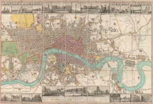 Edward Langley and William Belch.  New Map of London.