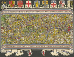 MacDonald Gill. London Underground map 1922