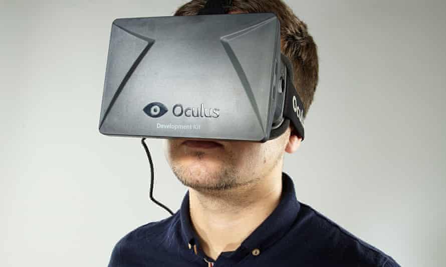 Man wearing Oculus device