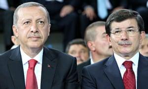Davutoglu and Erdogan