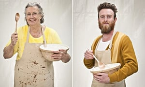 Diana and Iain from Bake Off
