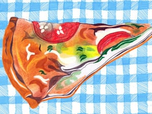 The lunch box: an illustration of a quiche.