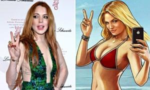 Lindsay Lohan and Grand Theft Auto's Lacey Jonas