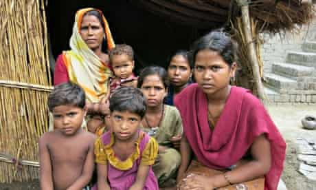 Like many rural Indian families, Raj Beti and six daughters cannot afford a toilet