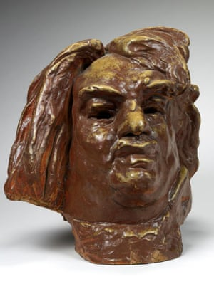 Monumental head of Balzac