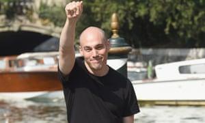 Joshua Oppenheimer arrives in Venice for the film festival.