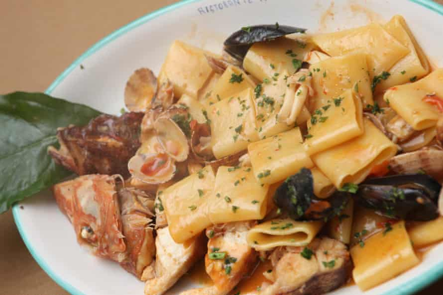 Seafood pasta at A' Paranza