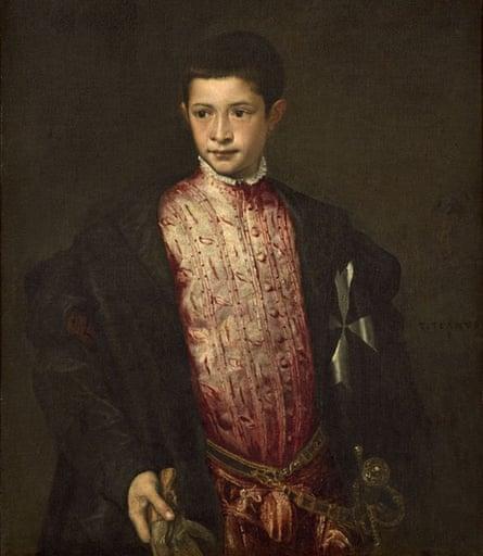 Portrait of Ranuccio Farnese by Titian.