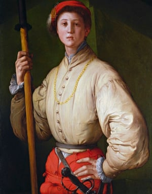 Portrait of a Halberdier by Pontormo