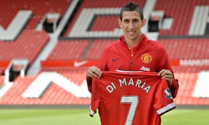 Manchester United's new signing Angel Di Maria