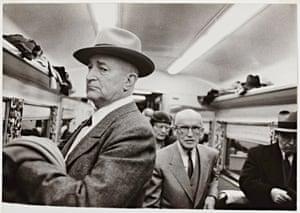 En route from NewYork to Washington, Club Car, 1954.