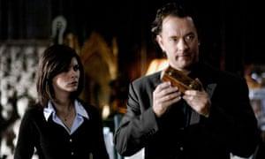 Tautou and Hanks in The Da Vinci Code.